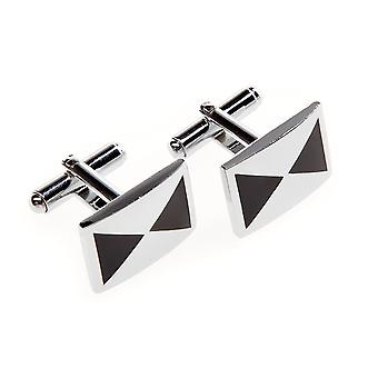 Frédéric Thomass cuff links square silver black creative II.