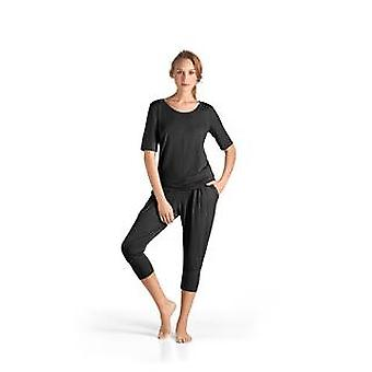 Hanro · Half sleeve top lounge Yoga · · · · · 77994 black ·