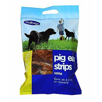 Hollings gris øre Strip bærepose 500g (pakke med 6)