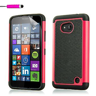 Shock proof case for Microsoft Lumia 640XL + stylus - Hot Pink