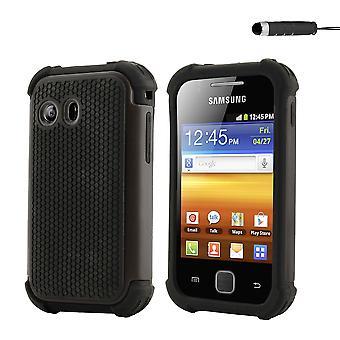 Shock Proof Case + stylus for Samsung Galaxy Y (GT-S5360) - Black