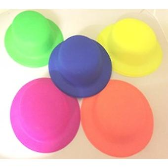 Neon Bowler Hats - Assorted Colours