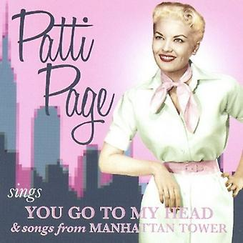 Patti Page - Sings You Go to My Head & Songs From Manhattan Tow [CD] USA import