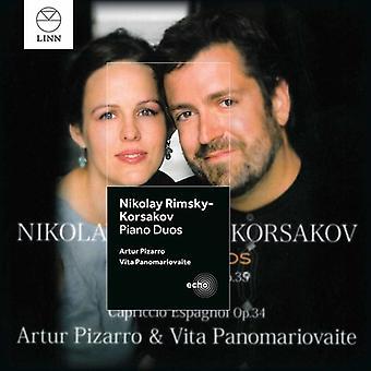 Rimskij-Korsakov / Pizarro / Panomariovaite - klaver Duos [CD] USA import