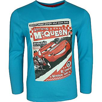 Disney Cars Lightning McQueen Boys Long Sleeve Top / T-Shirt