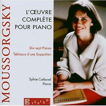 M. Mussorgsky - Moussorgsky: L'Oeuvre Compl Te Pour Piano [CD] USA import