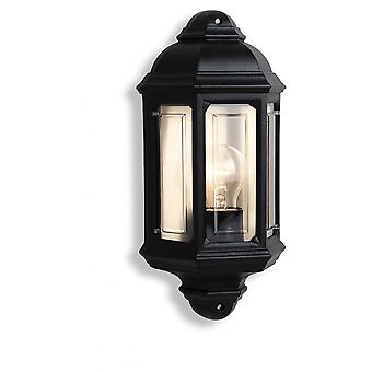 Firstlight Traditional Black Garden Flush Wall Lights