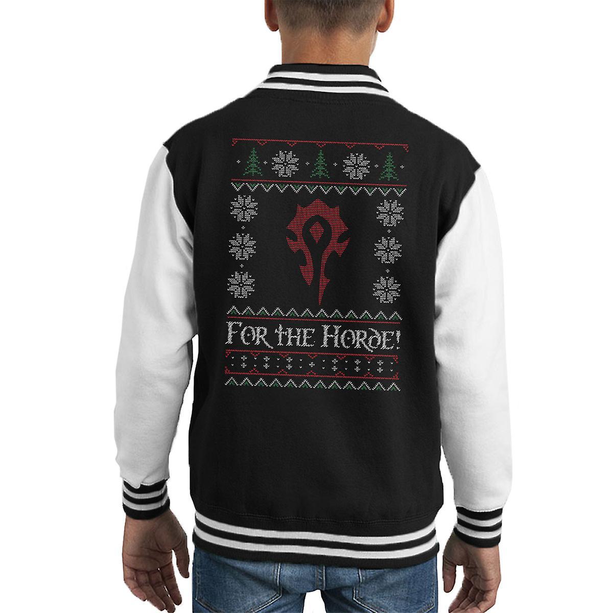 World Of Warcraft For The Horde Kid's Varsity Jacket