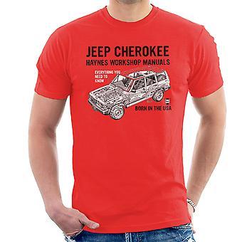 Haynes propietarios taller Manual Jeep Cherokee negro camiseta de los hombres