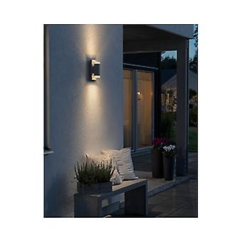 Konstsmide Potenza grijs tuin omhoog omlaag LED Wall Light