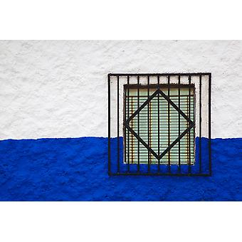 Window of an old house Campo De Criptana Ciudad Real Province Castilla La Mancha Spain Poster Print by Panoramic Images