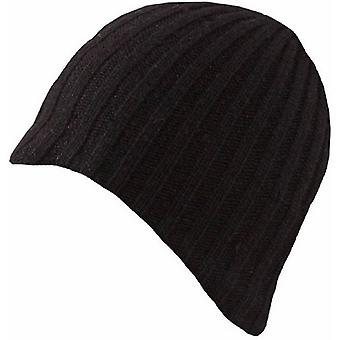 Dents Lambswool Blend Knitted Beanie - Black