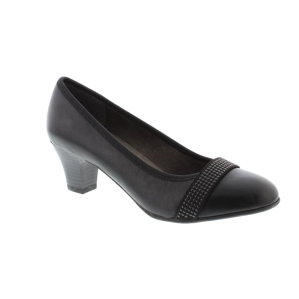 Soft Line 22464 - 001 Black (Man-Made) Womens Heels