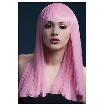 Wigs  Luxurious wig long light pink with fringe grove Alexia