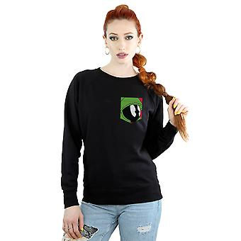 Looney Tunes vrouwen Marvin de martiaanse gezicht Faux Pocket Sweatshirt