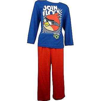 男の子怒っている鳥長袖パジャマ