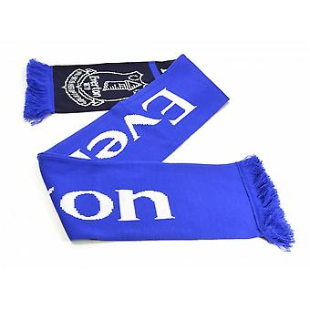 Everton FC Official Football Jacquard Nero Scarf
