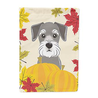 Carolines Treasures  BB2012CHF Schnauzer Thanksgiving Flag Canvas House Size