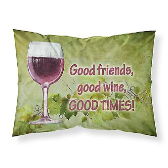 Good friends, good wine, good times Moisture wicking Fabric standard pillowcase
