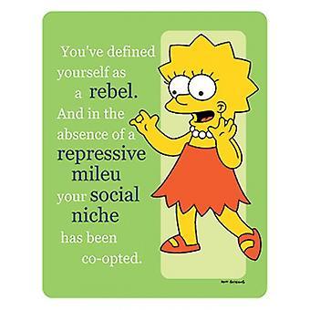سمبسنز--طباعة الملصقات ملصق المتمردة ليزا