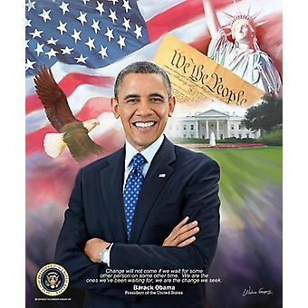 Barack Obama 2015 Poster Print by Wishum Gregory (20 x 24)