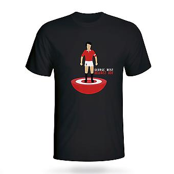George Best Man Utd Subbuteo Tee (black)
