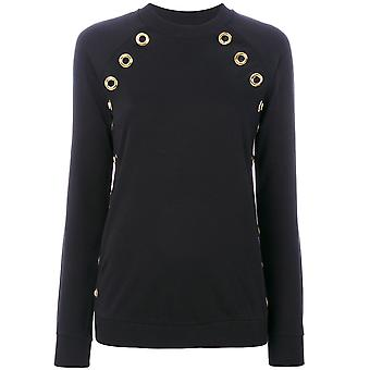 Balmain women's 108551828MC0100 black cotton Sweatshirt