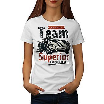 Supercar Women WhiteT-shirt | Wellcoda