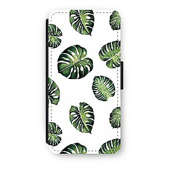 iPhone 8 Flip Case - Tropical leaves