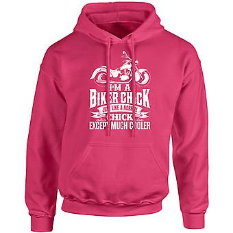 I'm A Biker Chick Except Much Cooler Unisex Hoodie 10 Colours (S-5XL) by swagwear