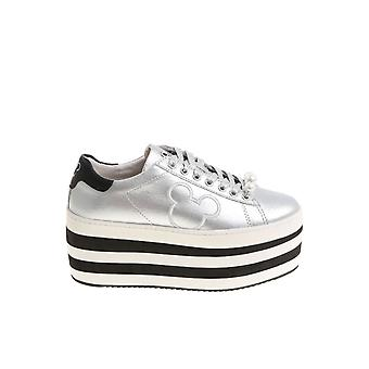 MOA women's MD172KIT silver leather of sneakers
