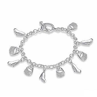 Ladies Womens Handbag and Shoes Shopping Charm Bracelet