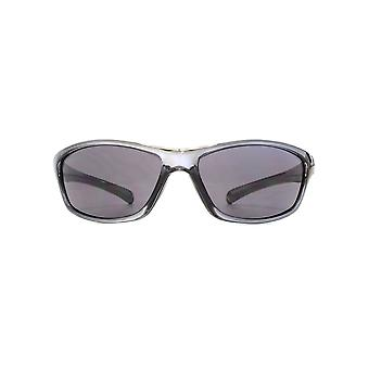 Freedom Polarised Savio Small Wrap Sunglasses In Crystal Cool Grey Polarised