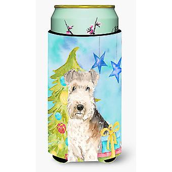 Christmas Tree Lakeland Terrier Tall Boy Beverage Insulator Hugger