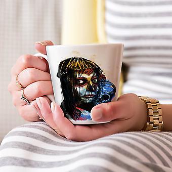 Czaszka zła Dziewczyna Fantasy Nowa Biała herbata kawa Latte ceramiczny kubek 17 oz   Wellcoda