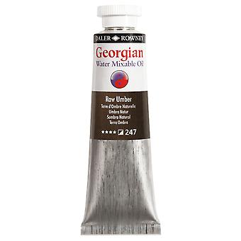Daler Rowney Georgian agua Mixable aceite color 37ml - Raw Umber