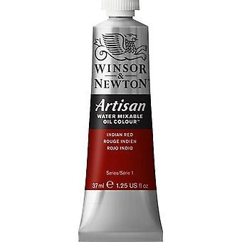 Winsor & Newton Artisan vatten blandbart olja färg 37ml (317 Indiska röda S1)