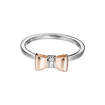 ESPRIT women's ring silver zirconia BI-COLOR ESRG92769D1