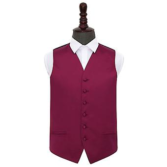 Burgundy Plain Satin Wedding Waistcoat