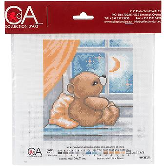 Collection D'art Stamped Cross Stitch Kit 20X22cm-Time To Sleep