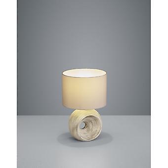Trio Beleuchtung Tanta moderne Cappucino Keramik Tischleuchte