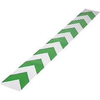 Conrad Components 1226962 Warning stripe RTS Green, Silver (L x W) 1 m x 115 mm 1 pc(s)