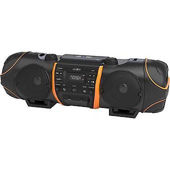 Reflexion CDR1000BT FM Boombox AUX, Bluetooth, CD, FM, USB Black, Orange