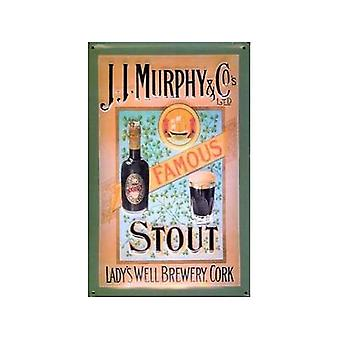 Murphy & Co Famous Stout Embossed Steel Sign
