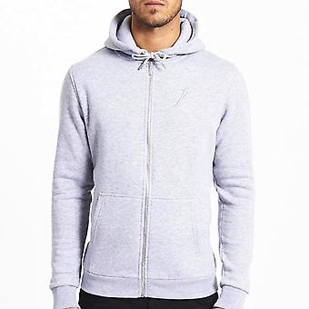 Jameson Carter Zip Up Hooded Jacket Grey Marl