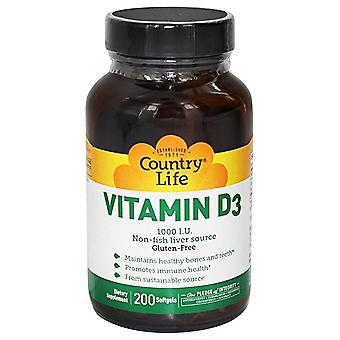 Country Life Vitamin D3 1000 IU store Softgels 200 Ct
