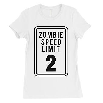 Zombie Speed Limit Womens White T-Shirt