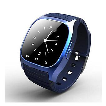 Coisas Certified® Original M26 Smartphone relógio OLED SmartWatch Android iOS azul