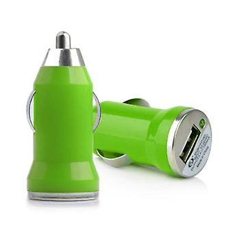 Stuff Certified ® iPhone / iPad / iPod AAA + USB Car Charger 5V - 1A - Fast charging - Green