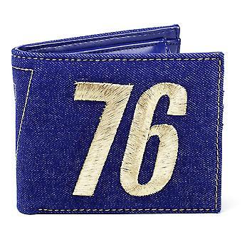 Fallout 76 Geldbeutel Vault 76  blau, bedruckt, 70% Polyurethan, 30% Polyester, in Polybeutel.